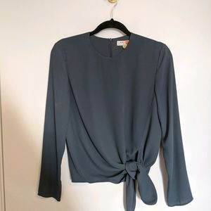 Babaton Blouse with Tie Size XS